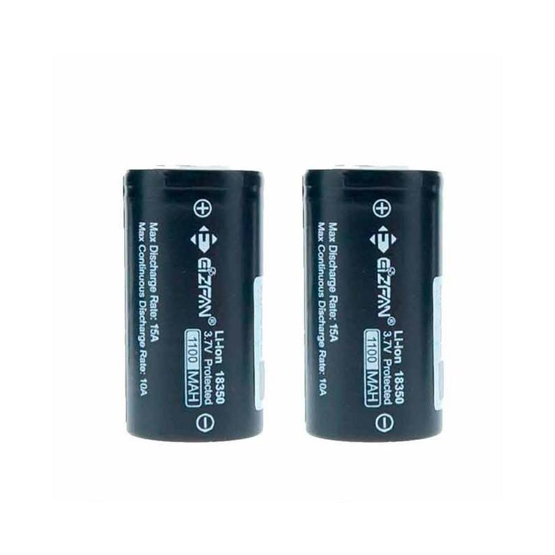 Baterias 18350 1100mAh 10A/15A (2pcs) - Eizfan