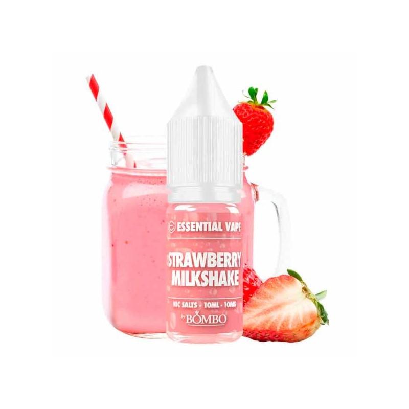 Strawberry Milkshake 10ml - Essential Vape Nic Salts by Bombo